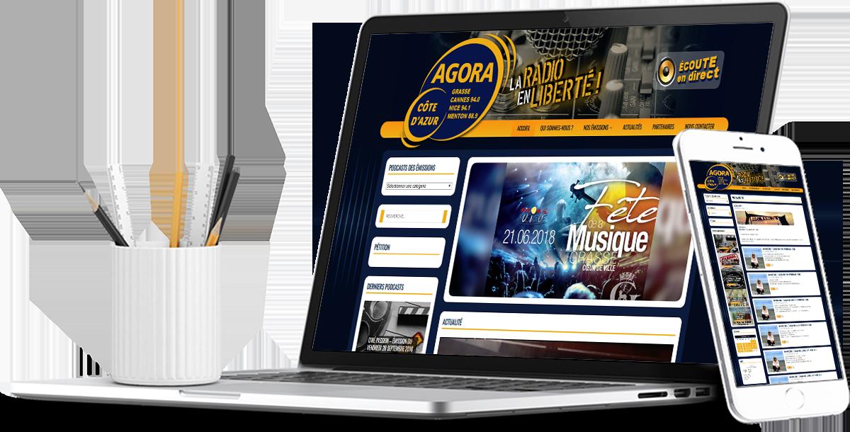 Création site internet radio responsive