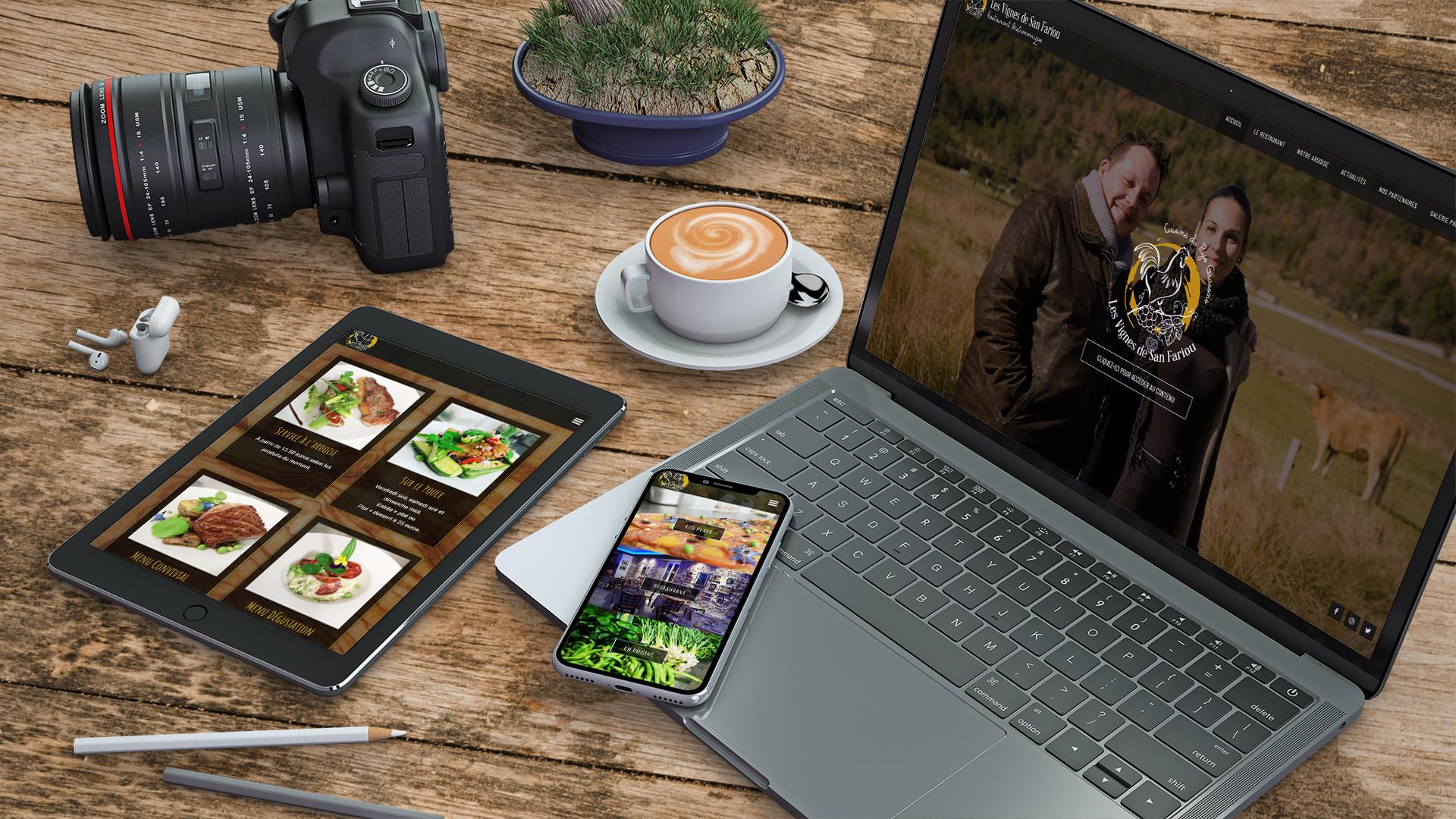 Création site internet design et moderne pour restaurant