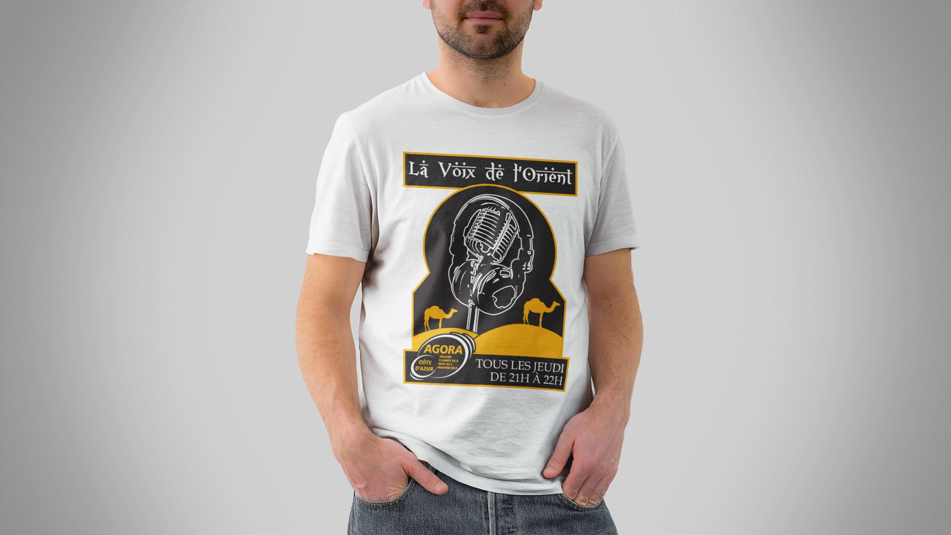 Création t-shirt original émission de radio orientale