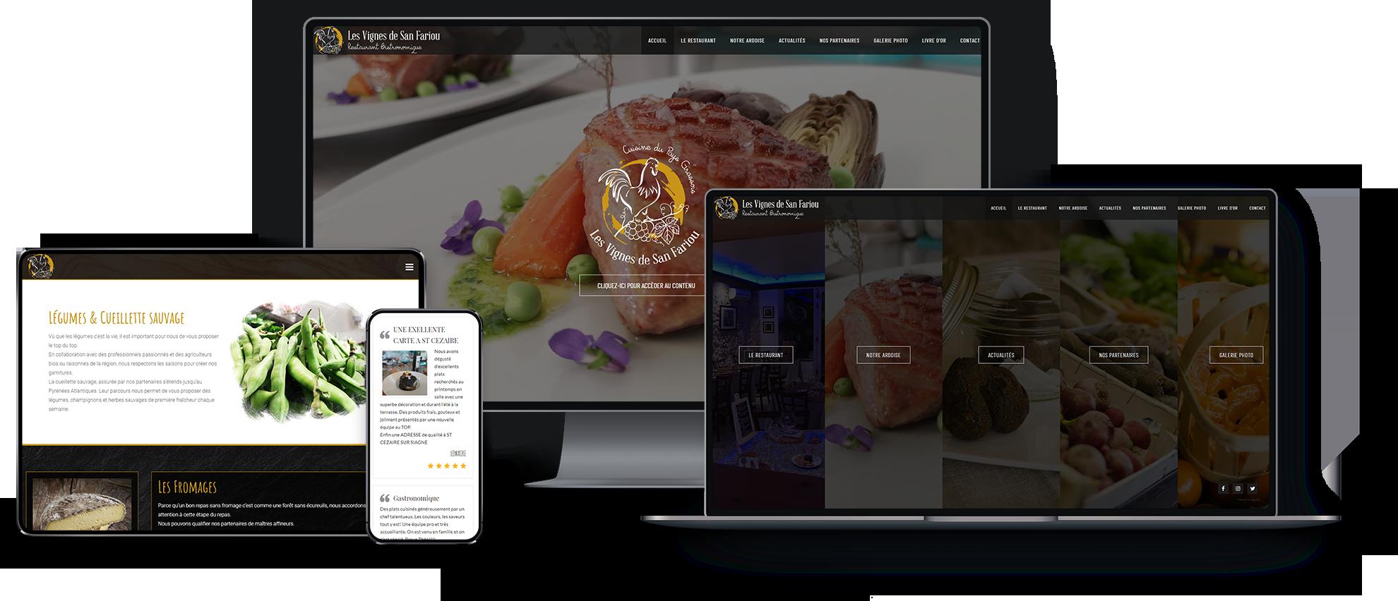 Création site web adapté mobile et tablette